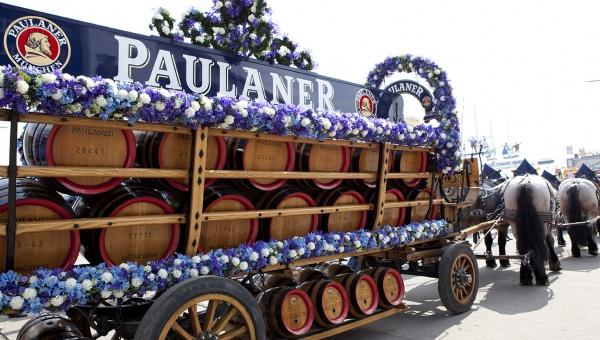 Il carro Paulaner (foto Paulaner)